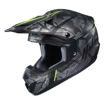 HJC CS-MX Sapir Yellow Motocross MX Motorcycle Motorbike Helmet - Large